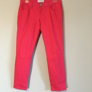 Express Pink Jeans Skinny Cropped Ankle Capri
